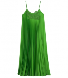 MACRAME DETAILED LONG DRESS WITH SPAGHETTI STRAPS