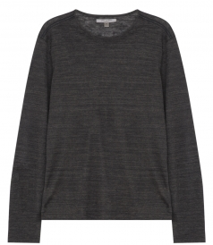 PURE LINEN LONG SLEEVE CREWNECK HENLEY