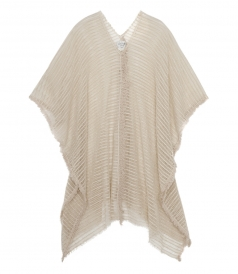 CLOTHES - COTTON BLEND SHEER LACE PONCHO