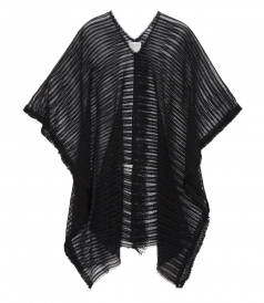 SALES - COTTON BLEND SHEER LACE PONCHO