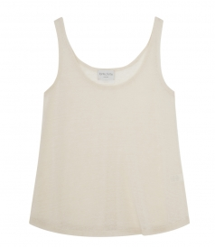 CLOTHES - THIN LINEN BLEND TANK TOP