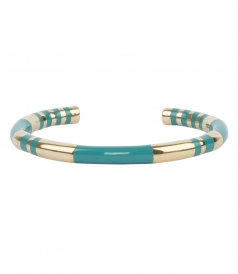 POSITANO STRIPED GOLD & ENAMEL BANGLE