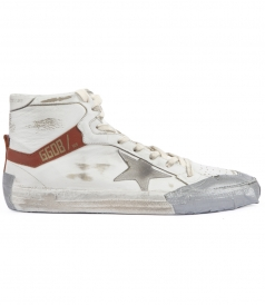 2.12 COLORED TAPE APPLIQUED HIGH TOP SNEAKERS