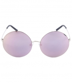 170C1 ROUND SUNGLASSES WITH PINK BLUSH MIRRORED LENSES