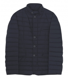 ZIP & BUTTONED UP FRONT CLOSURE DOWN JACKET