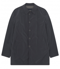 BUTTONED UP CLOSURE RAINCOAT