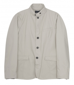 HIGH COLLAR ZIP & BUTTONED UP FRONT CLOSURE JACKET