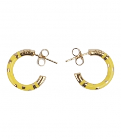 POSITANO POLKA-DOT HOOP EARRINGS