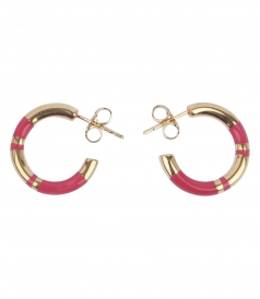 ACCESSORIES - POSITANO STRIPED HOOP EARRINGS