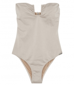 FORTE DEI MARMI STRAPLESS SWIMSUIT FEATURED A U BAR DETAIL