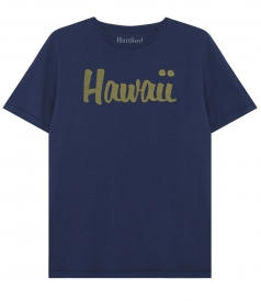 HAWAI PRINT PURE COTTON CREWNECK TEE