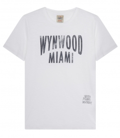 WYNWOOD MIAMI FADED PRINT CREWNECK T-SHIRT