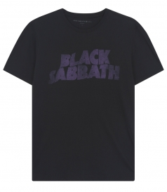 BLACK SABBATH PRINT CREWNECK T-SHIRT