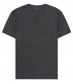 COTTON BLEND SHORT SLEEVE HENLEY