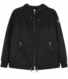ORPIN FLORAL EMBROIDERED HOODED CASUAL JACKET