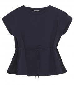 MAGLIA SHORT SLEEVE BLOUSE WITH SIDE BUTTON DETAILS