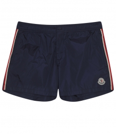CONTRAST PIPED SWIM BOXER