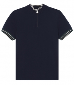 HIGH ZIPPED NECK SHORT SLEEVE POLO