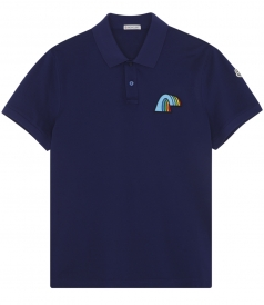 RAINBOW PATCH DETAILED SHORT SLEEVE POLO