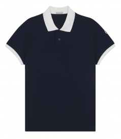 CONTRAST COLLAR & SLEEVES COTTON POLO