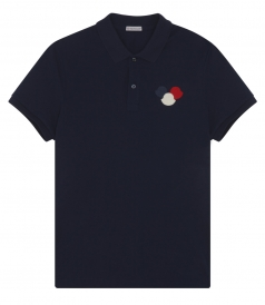 SIGNATURE TRICOLOR LOGO PLAQUE SHORT SLEEVE POLO