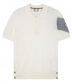 PANELLED SHORT SLEEVE PURE COTTON POLO