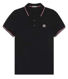 TRICOLOR TRIMMED COLLAR & CUFFS SHORT SLEEVE POLO