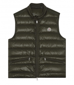 GUI PADDED VEST WITH HIGH COLLAR