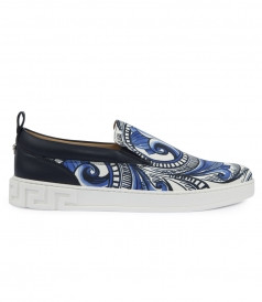 SHOES - BAROQUE PAINTED ROUND TOE SLIP-ON SNEAKERS