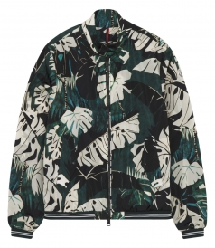 LAMY TROPICAL PATTERNED CASUAL JACKET IN TECHNICAL NYLON