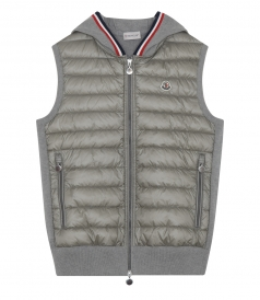 COTTON BLEND HOODED GILET