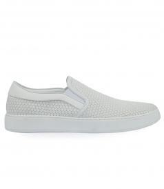SLIP-ON  EMBOSSED CALFSKIN LEATHER
