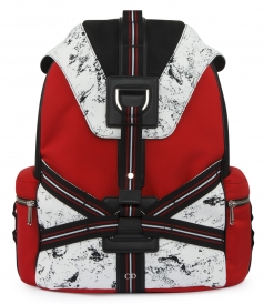 THREE-TONE CANVAS BACKPACK WITH STRAPS