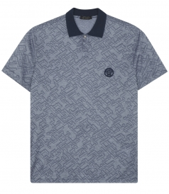 PATTERNED ALL-OVER-PRINT SHORT SLEEVE POLO