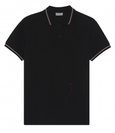 SHORT SLEEVE POLO WITH TRICOLOR RIBBING