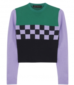 GRIDLOCK KNITTED PULLOVER FT DOUBLE KNIT CENTRAL CAGE