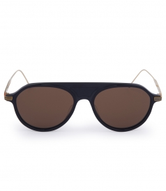 ACCESSORIES - NAVY & GOLD SUNGLASSES WITH DARK BROWN LENS
