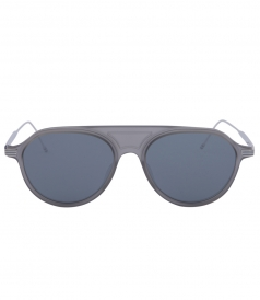 MATTE CRYSTAL GREY WITH DARK GREY LENSES SUNGLASSES