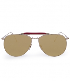 ACCESSORIES - GOLD METAL MIRRORED AVIATOR SUNGLASSES