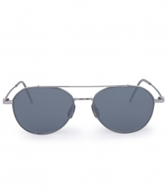 SILVER METAL MIRRORED AVIATOR SUNGLASSES
