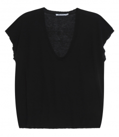 GAUZE CASHMERE KNITTED LOOSE TOP