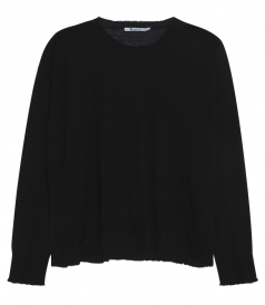 GAUZE CASHMERE KNITTED LOOSE BLOUSE