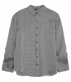 RAPALLO STRIPED SHIRT IN SILK WITH LACES UNDER THE SLEEVES