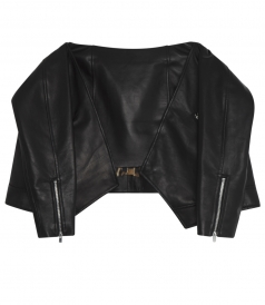 BUFFALO MOTORCYCLE SKIRT WITH TIED SLEEVES ON THE FRONT