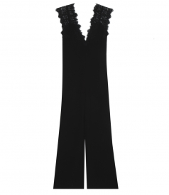 ZUZANNA LACE-TRIMMED JUMPSUIT WITH DEEP V FRONT & BACK CUTOUT
