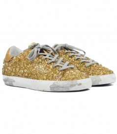 GOLDEN GOOSE  - SUPERSTAR SNEAKERS COVERED IN 3D-EFFECT CRYSTALS