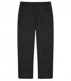 THORINA STRETCH LINEN CROP PANT
