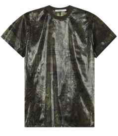 ALL OVER PRINTED NYLON T-SHIRT