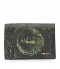 MONEY PRINTED COTTON BLEND CARD WALLET