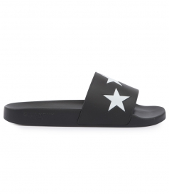 SLIDE FLAT SANDAL WITH PRINTED STARS